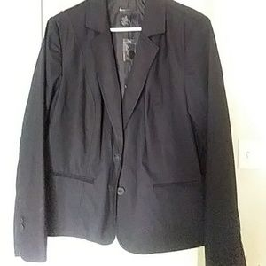 Lane bryant black blazer jacket size 20